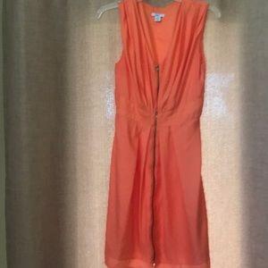 Bar lll dress orange, zipper front
